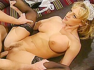 Hot Blonde Maid Knows How To Help Her Boss