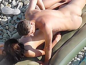Spycam - Young Couple Fucking On The Beach - Hidden Camera