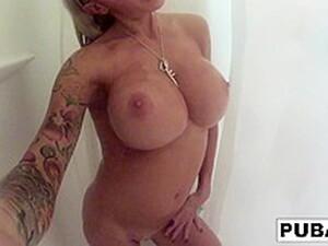 Helly Hellfire In Tattooed, Big Tittied Milf Helly Hellfire Takes A Long Shower - PUBA