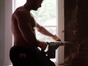 Muscle Using A Jack Hammer To Renovate The New House