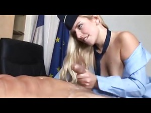 Blonde French  Stewardess Fucks With Her Boss