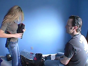 Hardcore Action With A Deliciously Hot Blond Behind The Scene