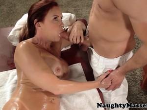 Busty Redhead Pornstar Banged Hard By Masseur