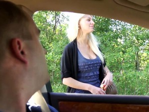 Girl Leans Out Car Window To Suck Cock