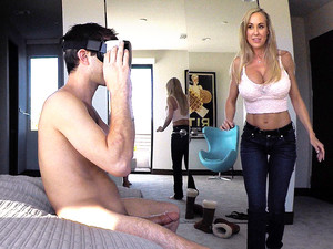 Brandi Love In Stepmom Plays With Gamer Stepson's Joystick - SpyFam