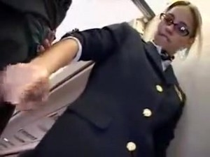 American Stewardess Handjob Part 5