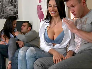 Smoking Hot Brunettes Are Fucked Silly By Big Cocks