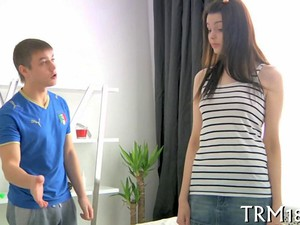 Tall Brunette Teen Fucked By A Russian Shortie