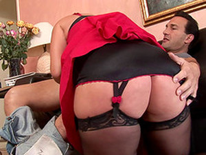Milf Pussy Is All Wet Wrapped Around His Rock Hard Cock
