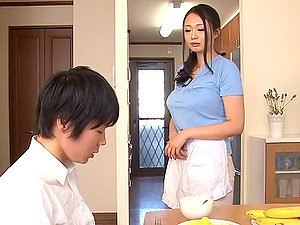 A Japanese MILF Gives A Guy A Great Blowjob And Milks Him Dry
