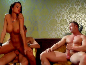 Nice Brunette Alektra Blue Being Double Penetrated