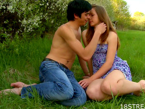 Erotic Teen Lovemaking In The Grass