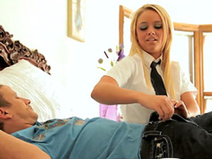 Alexis Monroe Is Drilled By A Guy After Taking Off Her School Clothes