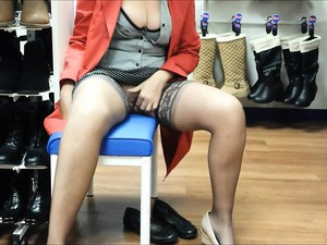 Sex-starved Slut Goes Shoe Shopping And Pleasures Herself I