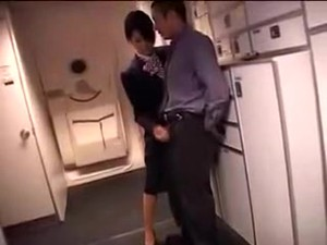 Japanese Stewardess Handjob Part 2