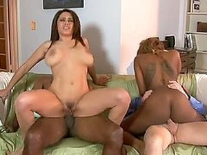 Innocent Party Turns Into Hot Interracial Foursome Banging