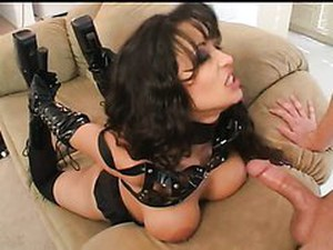 Leather Clad Latina Mason Storm Deepthroats In Anal Sex Vid