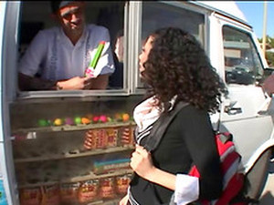 A Slutty Latina Teen Gets Fucked In The Back Of A Food Truck