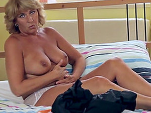 Dutch Granny Is Quite Pleased To Masturbate For Her Loyal Fans