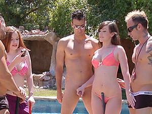 Everyone Gets Naked And Fucks In This Wild Pool Party