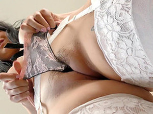 April Dawn Wears Stockings While Being Penetrated Well