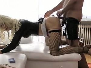 Crossdresser Gets His Ass Filled
