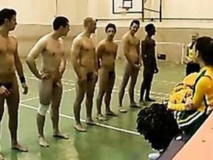 Cheerleaders Looking For The Ideal Guy In CFNM Vid