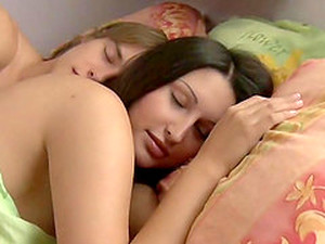 Teen Couple Wake Up