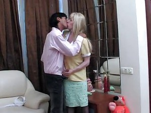 Blonde Crossdresser  Sex