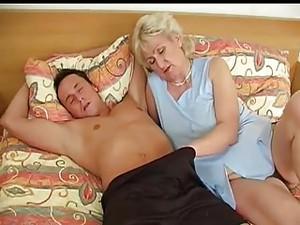 Granny In Bed