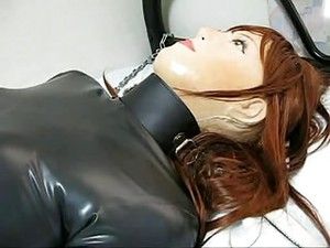 Female Rubber Mask In Breathplay
