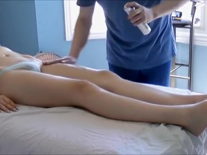 Slim Girl Receives A Rather Sexy Full-body Massage