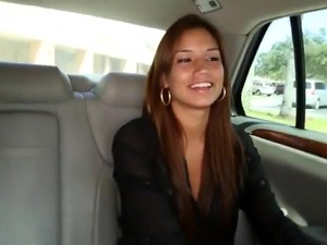 Gorgeous Latina Pay Sex For A Ride.