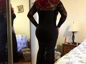 Deanna Cd Doll In Long Black Dress