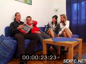 Home Clothed Sex In Foursome Video