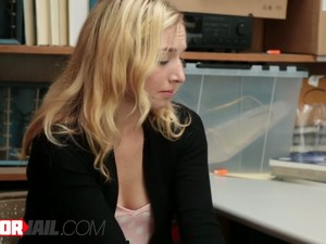 Blonde Teen Shoplifter Likes To Suck Police Piston