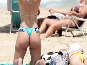 Seductively Firm Ass In A Thong Bikini