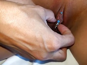 Alysha Changing Her Clitoris Piercing, Clithood Piercing