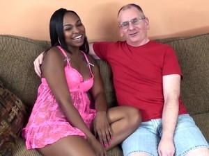 Old Guy Fucks Hot Ebony Babe