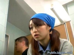 Asian Toilet Attendant Enters The Wrong Part6