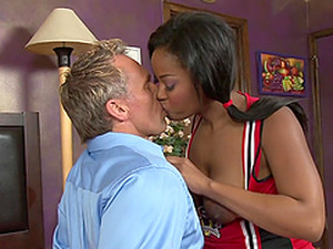 Slim Monique Symone Fucks White Man And Gets A Mouthful