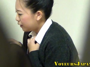 Uniformed Asian Teen Rubs