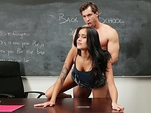 Cute College Girl Hardcored On Her Teacher's Desk
