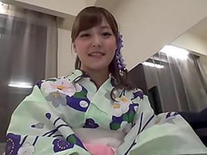 POV Hardcore With A Cute Asian Girl In A Sexy Kimono