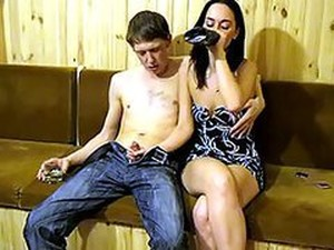 Horny Drunk Amateur Brunette Deseperate To Get Her Pussy Fucked