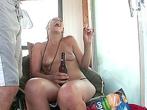 Delightful Drunkard Babes With Natural Tits Displaying Her Ass Seductively