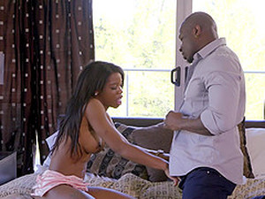 Handsome Guy Talks Sweet Mya Mays Into Pleasing His Stiff Cock