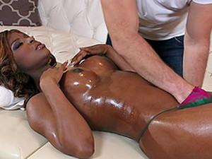 Massage Makes Jasmine Webb Horny For Interracial Sex