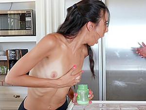 Skinny Victoria Vargaz Bends Over For A Pulsating Prick
