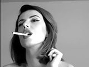 Charming Sexy Girl Smoking